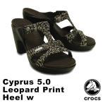 クロックス(CROCS) サイプラス 5.0 レオパード プリント ヒール ウィメン(cyprus 5.0 leopard print heel w ) /レディース サンダル
