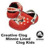 クロックス CROCS  クリエイティブ クロッグ ミニー ラインド クロッグ キッズ cc Minnie lined clog kids  サンダル [AA]