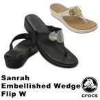 クロックス(CROCS)サンラ エンベリッシュド ウェッジ フリップ ウィメン(sanrah embellished wedge flip w) /レディース サンダル
