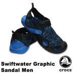 ショッピングサボ クロックス(CROCS) スウィフトウォーター グラフィック サンダル メン(swiftwater graphic sandal men)(男性用)