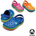 クロックス CROCS  クロックバンド レインボー バンド クロッグ キッズ crocband rainbow band clog kids  サンダル ベビー キッズ 子供用[AA]
