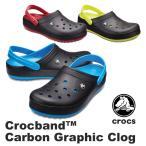 クロックス CROCS クロックバンド カーボン グラフィック クロッグ crocband carbon graphic clog  メンズ レディース サンダルユニセックス[BB]