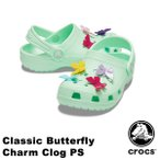 クロックス CROCS  クラシック バタフライ チャーム クロッグ PS classic butterfly charm clog PS サンダル【ベビー & キッズ 子供用】[AA]