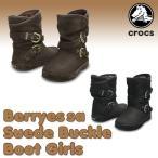 クロックス(CROCS) ベリエッサスエード バックル ブーツ ガールズ(Berryessa Suede Buckle Boot Girls)