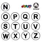 クロックス CROCS  ジビッツ jibbitz  アルファベット A-M  Alphabet N-Z   クロックス シューズアクセサリー イニシャル [BLU] [AA-2]