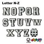 クロックス CROCS ジビッツ jibbitz レター N-Z Letter N-Z クロックス シューズアクセサリー アルファベットイニシャル [SKY] [小物] [AA-1]