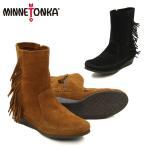 ミネトンカ MINNETONKA  サイド フリンジ ウェッジ ブーツ Side Fringe Wedge Boot  レディース ウィメンズ用 スエード ブーツ[BB]
