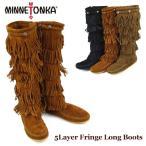 ショッピングMINNETONKA ミネトンカ(MINNETONKA) 5段フリンジ スエード ロングブーツ(5Layer Fringe Long Boots)[BB]