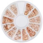 ネイルパーツ スタッズ ピンクゴールド 変形スタッズ 3Dメタルパーツ 6種類セット 5mm〜10mm 沢山激安のゴールドレジンパーツ 三角 丸カン 金 ネイルジュエリー