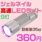 明るいシルバー ペン型LEDライト☆小さくて軽いミニサイズ 携帯用ハンディーライト/UVランプ 激安UVライト ジェル用ネイル用 紫外線ランプ 旅行 持ち運び 小型
