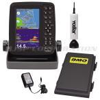 5型ワイドカラー液晶 GPSプロッター魚探 PS-611CN ワカサギパック リチウムイオンバッテリーパックセット