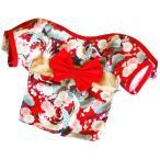 和服風猫犬用服 ペット服 浴衣ハーネス華やか 小型犬着物 お祭り和風ワンピース お姫様ドッグウェア 記念撮影猫和服 桜 蝶結びかわいい お正月 お祝い