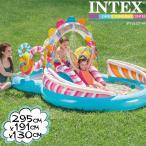 インテックス ビニールプール INTEX キャンディプレイセンター 57149 大型プール 295×191×130cm 滑り台つき シャワーつき