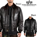 Alpha Industries G-1 Leather Flight Jacket  アルファ ミリタリー フライトジャケット MLG21210P1 レザージャケット