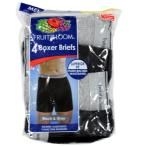 Fruit Of The Loom ボクサーパンツ Boxer Brief 4EL7601 Black Grey Trunks 黒 グレー
