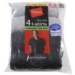 Hanes クルーネック ポケットTシャツ 黒4枚組み Pocket Undershirt T 4-P ヘインズ 2165P4