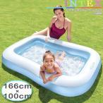 ショッピングうきわ [限定特典]INTEX レクタンギュラーベビープール インテックス ME-7001 57403NP 赤ちゃん用 浅いプール