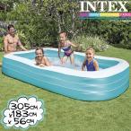 ショッピングうきわ [限定特典]INTEX スイムセンターファミリープール ME-7028 58484NP インテックス 大型プール