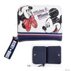 ディズニー ミッキーマウス ミニーマウス 二つ折り財布 スポーティー柄 51025