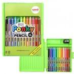 [お名前入れ不可 大特価]三菱鉛筆 uni ポンキーペンシル 12色セット 図画 工作 色鉛筆 PonkyPENCIL k800pk12clt [M便 1/5]