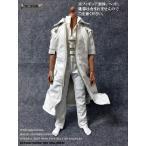 ドールズフィギュア cc281 1/6フィギュア用衣装  男性用 白のレザーコート&オーバーオールセット (DOLLSFIGURE CC281)