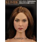 KUMIK 1/6サイズフィギュア用 女性ヘッドパーツ 16-16