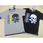 RUDE ROCKの半袖Tシャツ /110cm120cm130cm140cm150cm160cm/ジュニア キッズ ドクロ スカル 男の子 ボーイ 半袖Tシャツ