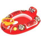 水遊び 子供用レーシングカー レッド 71×56cm 浮き輪 浮き袋