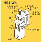 ネグロス HB1-W4 ネグロック 吊りボルト支持金具 一般形鋼・リップみぞ形鋼用 電気亜鉛めっき(C)