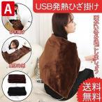 電気毛布 肩掛け 掛け敷き毛布 USB発熱ひざ掛け 電気ブランケット 洗濯OK 暖房 無地 防寒 冷え対策