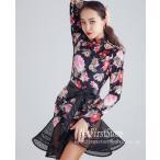ラテンダンスドレス ワンピース花柄  ルンバ サンバ