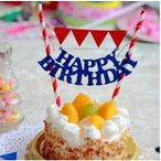 ケーキを簡単にかわいく ケーキトッパー 誕生日 ケーキ 飾り レッドフラッグ