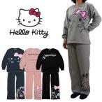 Hello Kitty ハローキティ レディース 裏起毛 スウェット 上下セット (M/L/LL) (64806) ルームウェア ファッション 可愛い 女の子 暖かい パジャマ