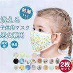 防菌マスク 子供用マスク 2枚入り キッズ 幼児 綿 オシャレマスク 銀イオン 洗える UVカット PM2.5 マスク 吸湿 日焼け止め 透気性布