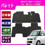 スズキ パレット MK21S 平成20年1月〜25年3月/純正型フロアマット(ブラック)