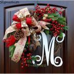 選べるクリスマス リースLサイズ インテリア 玄関 部屋 ドア 飾り クリスマスツリー クリスマス リース 北欧 おしゃれ 40cm45cm