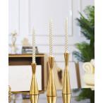 キャンドルホルダー シンプルモダン ゴールドカラー 北欧風 1本タイプ (大中小3個セット)