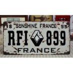 ナンバープレート レトロ インテリア (フランス 899)