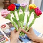 在庫処分セール ボールペン フェルト製のバラ 10本セット