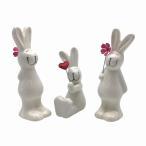 置物 ウサギさん 陶器製 3匹セット