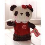 パペット パンダ かわいい フワフワ (女の子×赤い服)