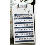 Yahoo!ノイシュタットYahoo!店カレンダー 木製 マリンスタイル (ホワイト×ブルー)
