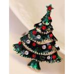 ブローチ クリスマスツリー オーソドックス