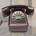 ショッピング置物 置物 電話機 電話器 黒電話風 ダイヤル風のプッシュ式 (ブラウン)