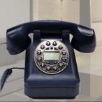 ショッピング置物 置物 電話機 電話器 黒電話風 ダイヤル風のプッシュ式 (ブラック)