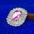 シューズクリップ 宝石ブローチ風 ゴージャス 2個セット (ピンク)