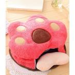 マウスパッド ハンドウォーマー USB電源 動物の手の形 肉球 (ピンク)