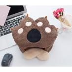 マウスパッド ハンドウォーマー USB電源 動物の手の形 肉球 (ブラウン)