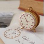 スタンプ 時計の模様 アンティーク風 木製 ゴム板