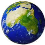 デザインマット 円形 リアルな写真風 宇宙から見た地球